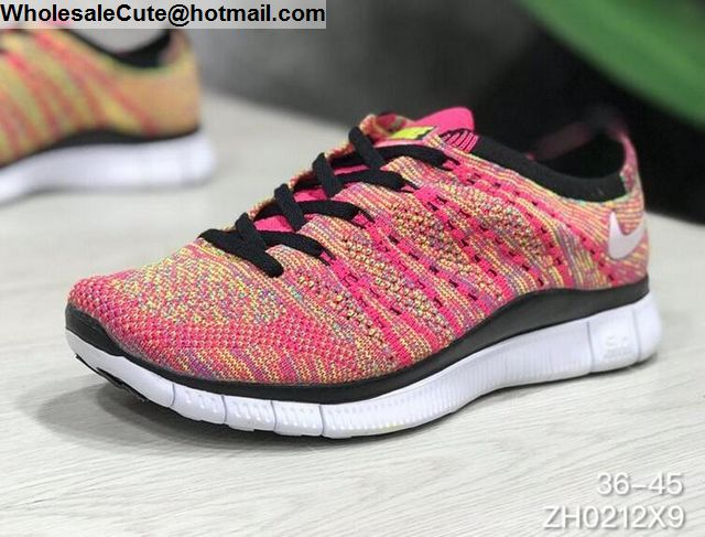 finest selection 5db1e 2926a Mens & Womens Nike Free 5.0 Flyknit Pink White Black -16172 ...