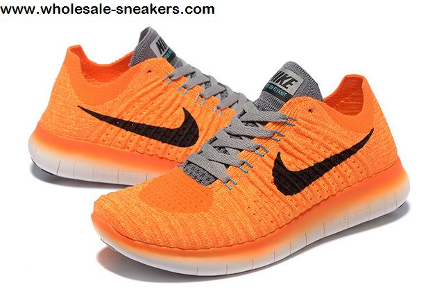 Orange Nike Free Flyknit 5.0