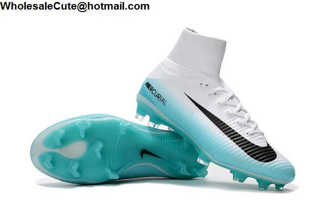 Nike Mercurial Superfly V FG White Blue
