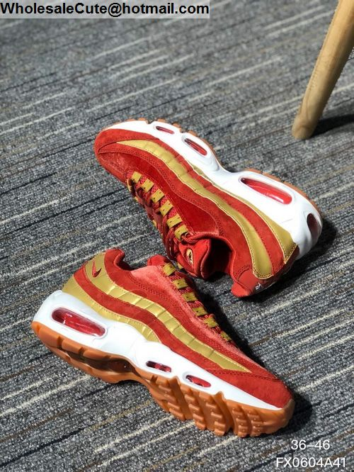 Nike Air Max 95 Red Gold