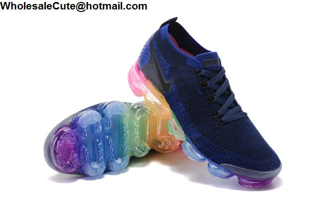 Nike Air VaporMax Flyknit Blue Rainbow