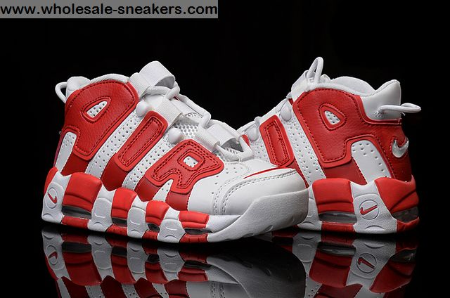 White Red Nike Air More Uptempo