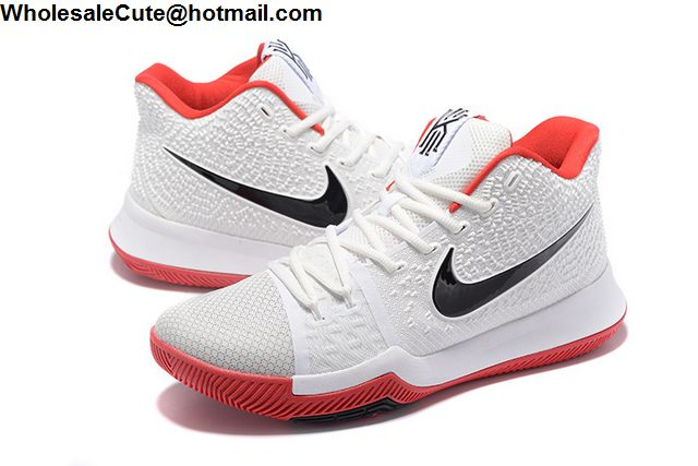 Nike Kyrie 3 White Black Red
