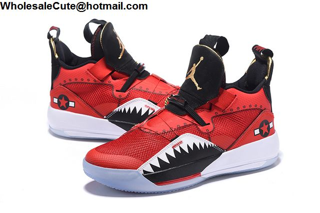 Air Jordan 33 Red Black White