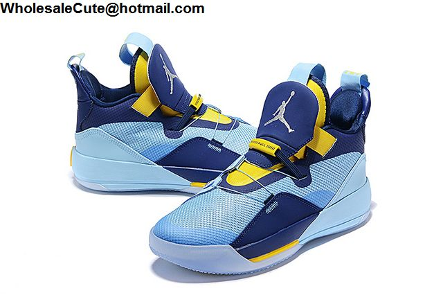 Air Jordan 33 Blue Yellow