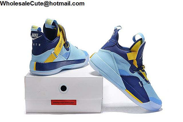 Air Jordan XXXIII Blue Yellow