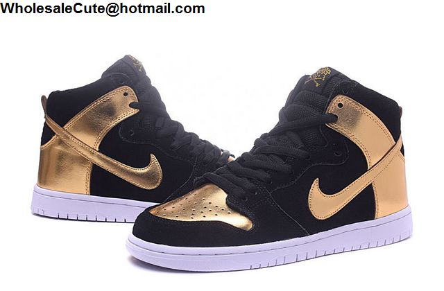 new concept 96fcf 52374 Nike Dunk High Black Gold